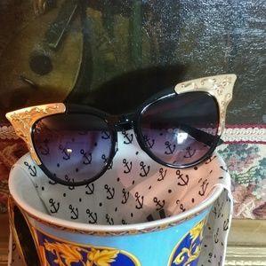 DESIGNER Cat Eye Sunglasses. FINAL SALE